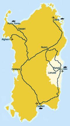 Cartina Sardegna Turistica.Ogliastra Turismo Come Arrivare In Auto In Ogliastra